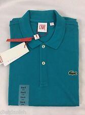 Lacoste Men's L!VE Polo Shirt New With Tags Borneo Blue EU 7 US XL