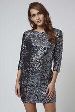 TFNC Multi Colour Rainbow Sequin Sparkle Mini Bodycon Dress - Size Small 6 8