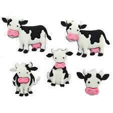 Cow Buttons - Mooove It! - Dress it Up - Farmyard Animals - Cute Cows - Country