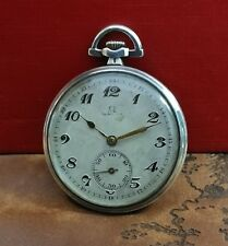 OMEGA STERLING SILVER 0.900 cal.35.5L 1900's VINTAGE RARE SWISS POCKET WATCH.