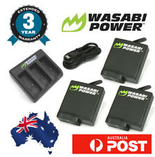 Wasabi Power Battery for Go Pro HERO6 Triple USB Charger 3x 1220mAh batteries