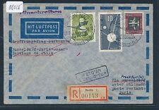 08025) LH FF Frankfurt - Chile 9.4.58, Reco ab DDR. lesen