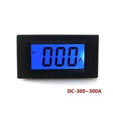 Digital LCD Display Panel Ammeter DC -300~300A Blue Backlight Current Meter