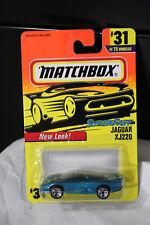 MATCHBOX SUPER FAST JAGUAR XJ220  #31 1996 NEW OLD STOCK  CARD MINT BLUE
