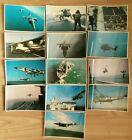 FALKLANDS TASK FORCE POSTCARDS x 13, NUMBERS 51-63, HARRIER, INVINCIBLE, VULCAN