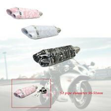 1×37-51mm Motorcycle Scooter ATV Dirt Bike Exhaust Muffler Pipe muffler 3 color