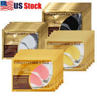USA 20Pack Anti-Wrinkle Dark Circle Gel Collagen Under Eye Patches Mask Pad Gold