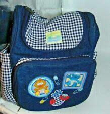 2006 Baby Sesame Street Beginnings Denim Bag Backpack Elmo Big Bird Cookie