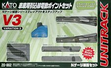 Kato 20-862 UNITRACK Variation Set V3 Rail Yard Switching Track set (N scale)