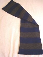 "Ladies Scarf 56"" long and 7"" wide Alternating bars of Blue & Gray GUC"