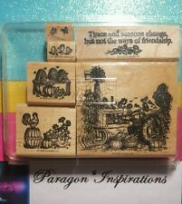 READ Stampin Up TIMES & SEASONS Rooster Chicks Vintage Tractor Harvest COMPLETE