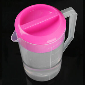 1-2.5L Large Capacity Measuring Water Pitcher Jug Container w/Lid For Beer Juice