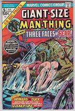 Giant-Size Man-Thing #5 VF-NM 9.0 Howard The Duck Frank Brunner Art!