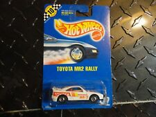 Hot Wheels #122 White Toyota MR2 Rally w/HO Wheels