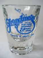 "Grandmas Saloon & Deli A Sure Shot Glass Shooter MN Minnesota Heavy 3"" H 1 oz"