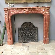 cheminée régence en marbre de incarnat finement sculptée XX siècle