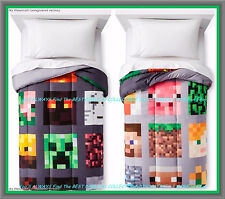 MINECRAFT Bedding < Good Vs Evil > REVERSIBLE Twin Size COMFORTER << NEW w/Tags