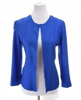 $109 NWT Chicos Travelers 0 Sz 4 Women S Crinkle Crushed Sloane Jacket Blue