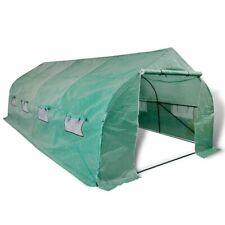 vidaXL Polytunnel Greenhouse Walk-in Portable 18 m² Garden Shed Plant House