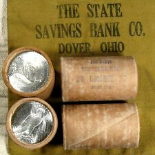 $20 SILVER DOLLAR ROLL S-Mint and P-Mint PEACE DOLLAR ENDS