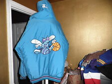 Rare Charlotte Hornets Throwback Puffy Parka Starter Jacket Large Nice!