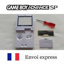 Coque GAME BOY ADVANCE SP blanc perle white NEUF NEW + tournevis -shell case GBA