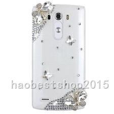 3D Handmade Glitter Luxury Bling Diamonds Pearls Hard Phone back Case Cover #C