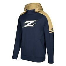 Akron Zips NCAA Adidas Men's Navy Blue Game Built Sideline Player Hoodie