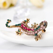 Lizard Shape Gift Rhinestone Charm Brooch Cloth Decoration Fashion Jewelry Pin