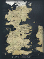 Game of Thrones - Map - Ready Framed Canvas