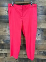 Ann Taylor Loft Women's Julie Bright Pink Linen Blend Ankle Length Trouser Pants