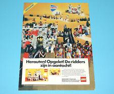 LEGO MAGAZINE ADVERT LEGOLAND KNIGHTS 1980s DONALD DUCK HOLLAND
