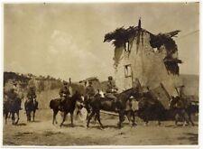 WW1 Fabriano Ancona 1915-18 Militari a cavallo Foto originale gelatina d'argento