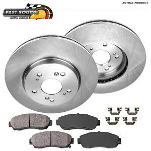 Front Brake Rotors And Ceramic Pads For Honda Accord Crosstour CRV Acura RDX