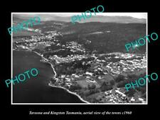 OLD LARGE HISTORIC PHOTO OF TAROONA KINGSTON TASMANIA AERIAL VIEW OF TOWN c1960