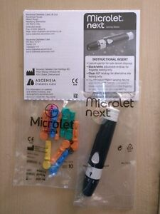 Bayer Microlet Next Blood Glucose Lancing Device For Contour Next  + 10 Lancets
