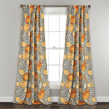 Poppy Garden Room Darkening Window Curtain Panels Yellow/Gray 52X108 Set