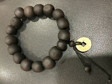 AUTHENTIC MATT BLACK BEADS ON ELASTICATED WRISTBAND/BRACELET MADE IN GAMBIA