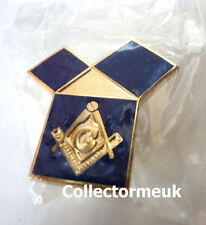 ZP452 Masonic Freemason Checkered Mosaic Solomon pin badge Square Compass