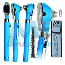 Bleu ciel mini Otoscope Fibre Optique Diagnostique Examen Médical + Ampoule LED CE