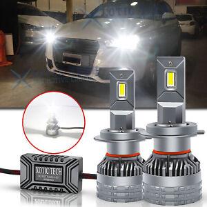 For Audi 2x H7 White LED Headlight Low Beam Bulbs Lamps ERROR FREE Super Bright
