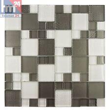 Mosaico Benevento Azulejos de Gris Blanco 29 ,5x29,5x0,8 Pool Cocina Bad Ducha