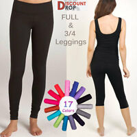 Clearance Offer All Year-Round Ladies Warm Full & 3/4 Length Leggings Size 8-22