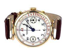 Eberhard & Co 18 K 750 Gold mechanische Eindrücker Chronograph Herren Armbanduhr