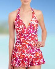 CHAPS® 18 Floral Print Halter Ruffle Swimdress NWT $88