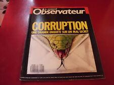 LE NOUVEL OBSERVATEUR N°1216 1988 CORRUPTION UNE GRANDE ENQUETE