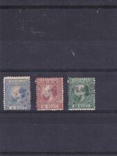 Nederland 1867 NVPH nrs. 7, 8 en 10 gestempeld.