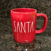 "RAE DUNN Holiday Christmas LL ""SANTA"" Red Mug By Magenta New"