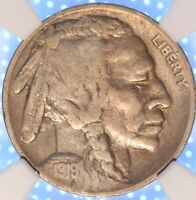1919 D BUFFALO NICKEL, NGC VF20, TOUGH DATE, ORIGINAL SURFACES, PROBLEM FREE!