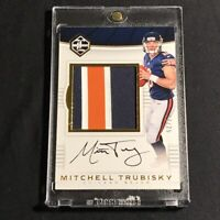 MITCHELL TRUBISKY 2017 PANINI LIMITED GOLD #133 3-COLOR JUMBO PATCH AUTO RC /25